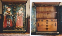 Armoire for Mrs Walt Disney... Interior Trompe l'oeil iron fittings © Pamela Silin-Palmer 1999