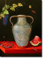 Grecian Urn on Trompe l'oeil table © Pamela Silin-Palmer 2009