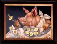 Pig, Egg, Daisy, Lunch © Pamela Silin-Palmer 2006