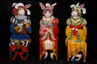 Three Trompe l'oeil Renaissance Rabbit Chairs © Pamela Silin-Palmer 2005