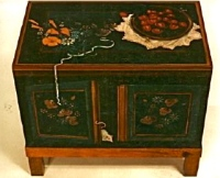 Trompe l'oeil Mouse Chest for Mrs. Walt Disney © Pamela Silin-Palmer 1999