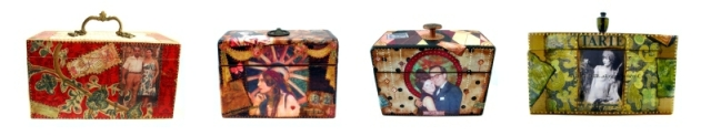Painted wooden boxes created by Ruby Clover at The Art Hand