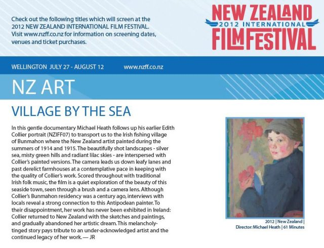 Copper Coast Productions and New Zealand Film Festival screening Village by the Sea