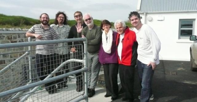 The crew of A Village by the Sea. Mook Vignes, Alex Vignes, Stephen Latty, Michael Heath, Angela Mulcahy, Hy Mayerson, Sean Corcoran