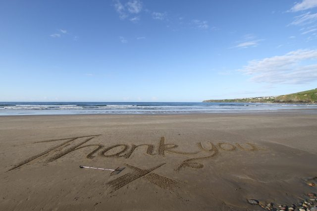 Thank You by the Jersey Sandman, Andy Coutanche