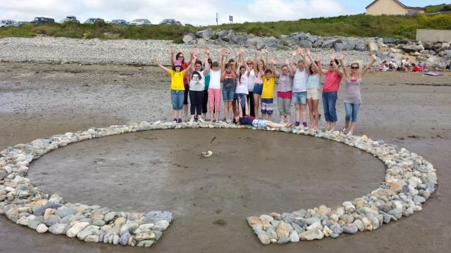 Environmental Art on the Beach