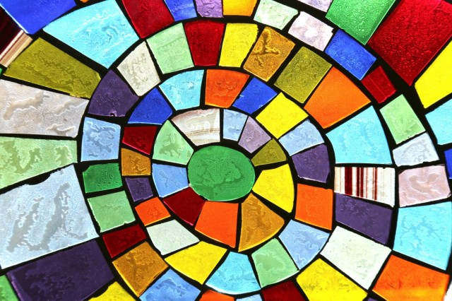 Coloured Glass Mosaic 019