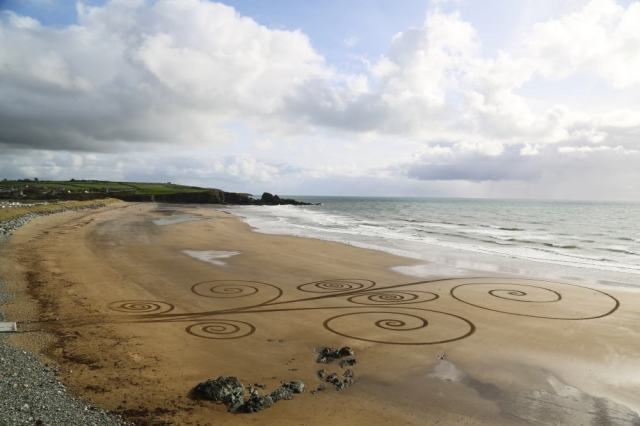 Slip Spiral Beach Art Bunmahon Beach
