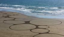 Beach Art by Sean Corcoran, Waterford, Ireland.