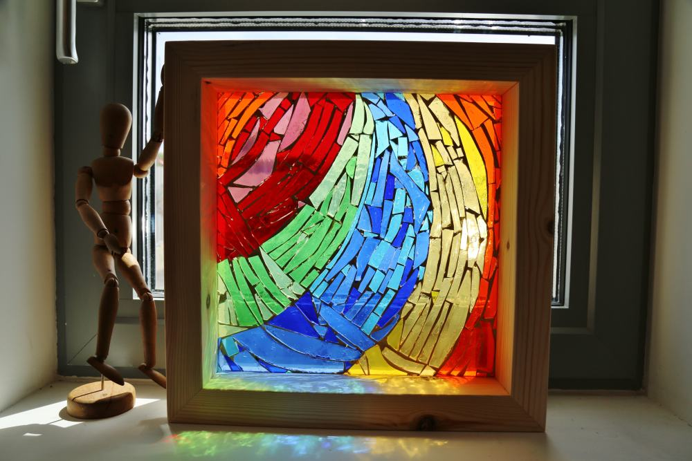 Coloured Glass Mosaic Window Boxes | the art hand . art school ...