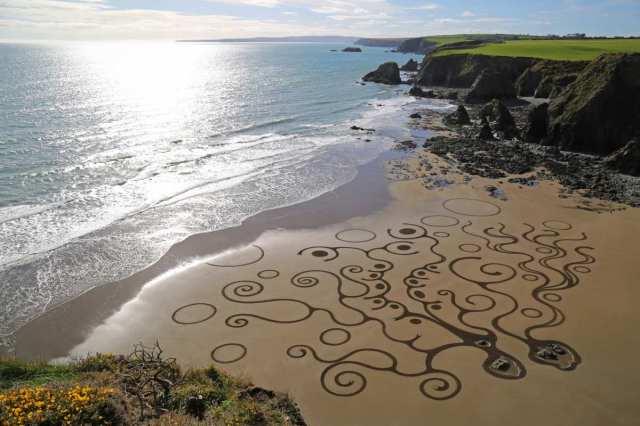 Sand Art Sean Corcoran Waterford Ireland